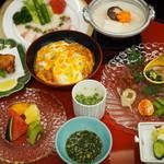 新三浦 ガーデン - 水炊き小鉢・新三浦特製親子丼コース\6400