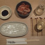 マグロ 婆娑羅 - 甘エビと日本酒