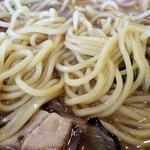 ラーメンむねちゃん - ネギらーめん 醤油(麺アップ)