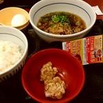 なか卯 - 肉すい朝定食 390円 + 唐揚げ2個(サービスクーポン)