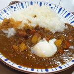 すき家 - カレー(並)¥450&温玉¥60