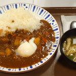 すき家 - カレー(並)¥450&温玉¥60&みそ汁¥80