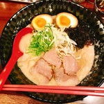 みなとや - 『こってりラーメン+玉子』様(650円+100円)
