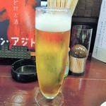 アジト - 乾杯のビール