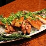横浜 地鶏居酒屋 一條 - 熟成鶏の黒胡椒焼き
