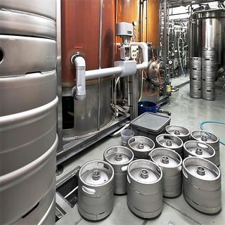 出来たて地ビール♪1階は名古屋市内唯一のビール醸造所♪