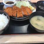 松乃家 - 味噌ロースカツ定食 @500-
