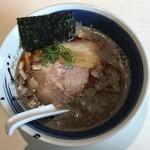 らー麺 山さわ - 辛い煮干しハバニボ850円、半麺50円引きです。
