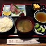 旬香 - 料理写真:私のハマチ・鯛定食
