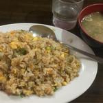一楽ラーメン - 焼飯 630円(スープ付き)