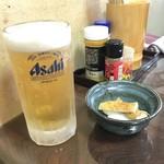 居酒屋まさる - 生ビール&突出し