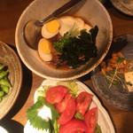 海鮮居酒屋 えん屋 - 枝豆のわさび焼きは、特別に旨く、良い摘み!