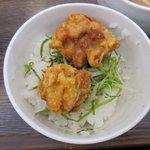 濃厚鶏白湯ラーメン ミスターチキンハート - 鶏天ご飯2017.05.22