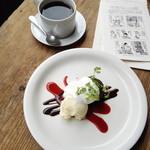ブンダン - 特製生チョコケーキセット1200円