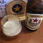 大旦那 - ビールは☆★★☆赤星 サッポロビール