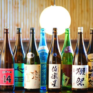 こだわりの日本酒を各種ご用意!