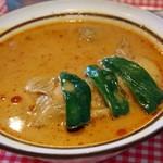薬膳カリイ本舗 Ajanta - とり(薬膳かしみいるスープ)
