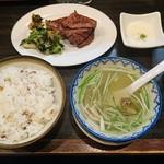 牛タン焼専門店 司 - 牛タン定食  (3枚)  1650円