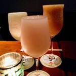 grado - 写真左から『メロン』『和梨』『はっさく』