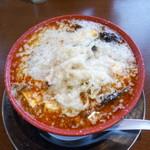 ちゃーしゅうや武蔵 - 料理写真:辛味噌麻婆麺+背脂