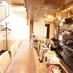 Okayama Table TERRA - カウンターでシェフとの会話も楽しめます