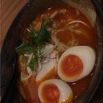 麺屋 武一 - 濃厚辛味噌鶏そば(味玉入り)