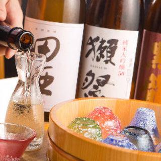 日本酒から焼酎・ワインまで種類豊富!!