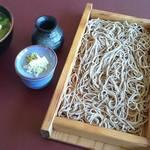 みやまの里 木の根坂 - 「板そば」「きじそば」「地物野菜・山菜の天婦羅」