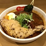 スープカレー スアゲ2 - チキンスープカレー980円、辛さ10番プラス100円です。