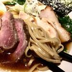 麺処 篠はら - 平打ち中太ストレート麺
