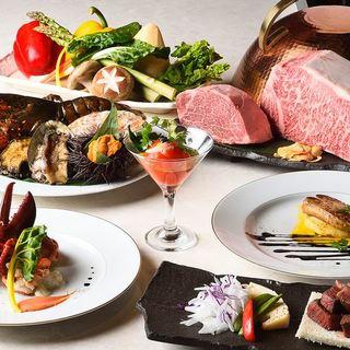 新年度は、鉄板焼料理とワインで