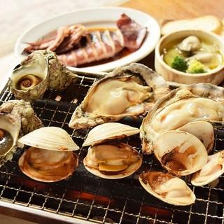 【肉と牡蠣市場】浜焼きプランが3,460円⇒2,980円に!