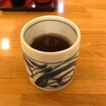 そば処 中村 - 冷たいお茶。       美味し。