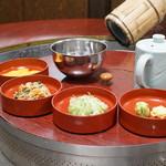 ニテコ名水庵 - 薬味と漬物