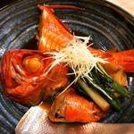 げんき  金目鯛煮つけ 日本酒