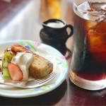 Cafe Mix - 食後のアイスコーヒーとデザート