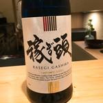 67419050 - 稼ぎ頭という日本酒                       食前酒のような形で出されます。