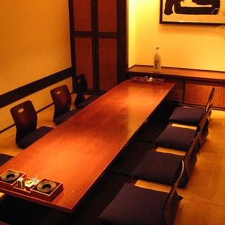 落ち着いた大人の個室で、ご宴席をお楽しみください。