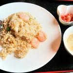 中国料理 華龍 - えびチャーハン スープ付 780円+税 2017/05