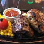 ステーキ&ハンバーグ専門店 肉の村山 - Texasステーキ200g&SAMURAIハンバーグ200gセット2000円