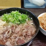 うどん秀 - 肉うどん(普通盛)