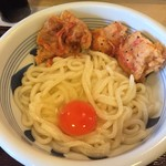 つきろう - 料理写真:鳥天かまたまうどん@720円