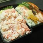 67433037 - カニたっぷり弁当、豪華な海鮮弁当