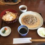 くまはら川 - 親子丼セット800円