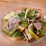 焼き葱と合鴨のサラダ
