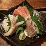 北海道 海鮮居酒屋 魚人  - 刺身3点盛り