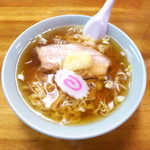 おやじの店3号店 - 料理写真:にんにくらーめん(¥650)。オーソドックスな佐野ラーメンに、おろしニンニクをトッピング!