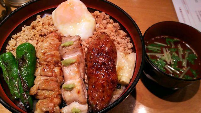 鶏味座 ダイバーシティ東京プラザ店 - 焼鳥丼ランチ