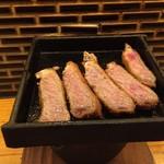 牛カツのタケル - 牛カツ1ポンド定食(2800円)牛カツ鉄板焼き