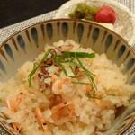 禅紫 - 桜エビの土鍋炊きご飯(1,800円)